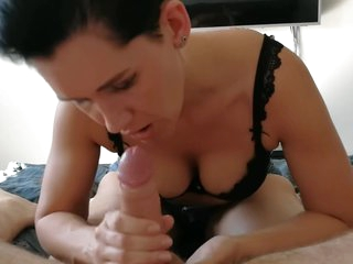Cumming on Mom's boobs