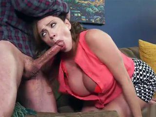 Hungry milf loved deep blow job on daughter's boy friend