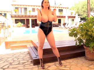 Holly Garner first time appearance showing her big boobs