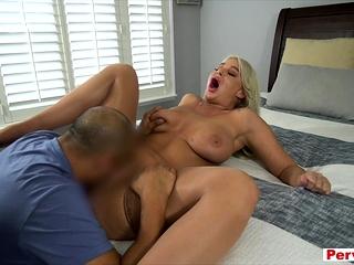 MILF pornstar busty stepmother POV style taboo fun