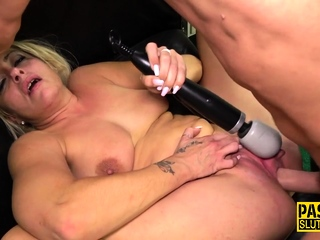 Throated submissive milf gets plowed