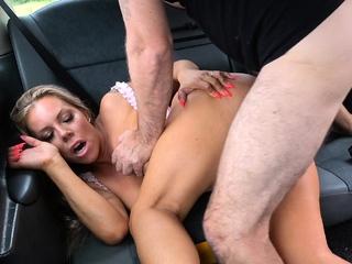 Fake Taxi Big boobs MILF Bianca Finnish fucks for free ride