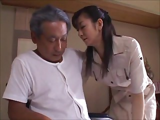 Japanese Wife Widow takes care of Father-in-Law (MrBonham)