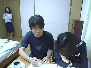 mama having sex whilst her daughter studying