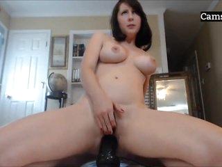 Amateur Cam Babe Masturbating & Cums Hard On Webcamshow