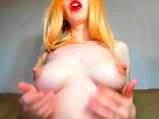 Horny Redhead Masturbates Her Pussy Close Up HD