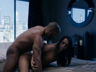 Petite pretty TS Khloe Kay deep interracial anal penetration