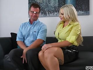 Horny Blonde Andy Adams Seduces Virgin Eric Masterson