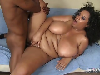Betty Blac Is A Slutty, Ebony Plumper With Massive Tits Who Rides Hard Cocks Like A Pro