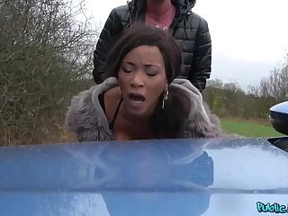 Thomas Hyka And Kiki Minaj In Horny European Dude Fucks Shameless Ebony Outdoors