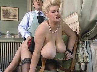 Blonde gets French fucked with her big ballons