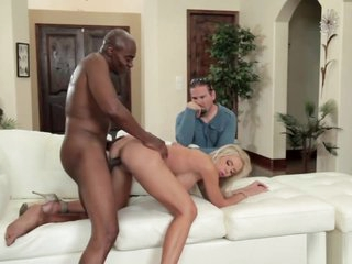 Blonde MILF Nina gets banged by in cuckold action