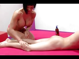 Spanish Milf Short Hair And Very Young Boy