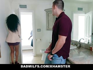 BadMilfs - Ebony Milf Fucks Son In Law