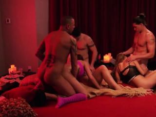 Hardcore swingers orgy with brunette MILF and her boyfriend