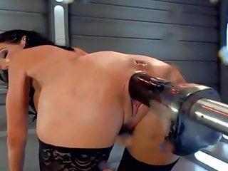 Machine fucks a hot MILF hard, multiple squirting orgasms.HD