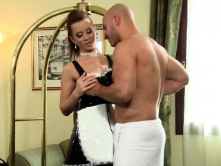 Cougar Cindy Dollar Takes Long Schlong From Behind