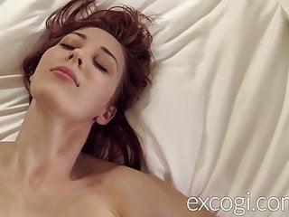 Big Tit Redhead Lactating Young Mom Orgasms in Porn Debut